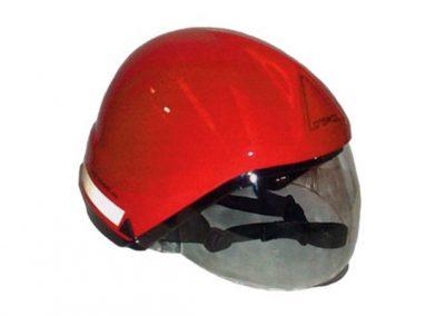 Casco per operatore antincendio